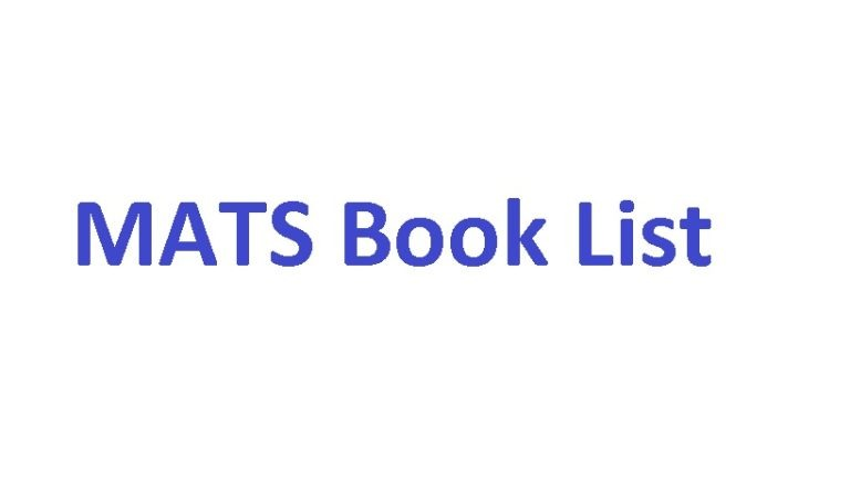BOOK LIST for MATS